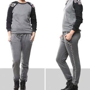 Hemant & Nandita's Embellished Sweatpants